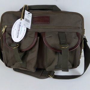 Tommy Bahama La Jolla Briefcase Canvas w/ Leather
